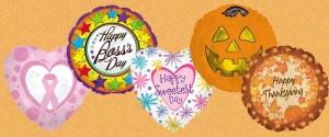 Holiday Mylar balloons