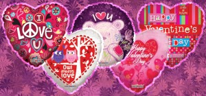 valentine's day mylars