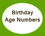 Birthday Age Numbers