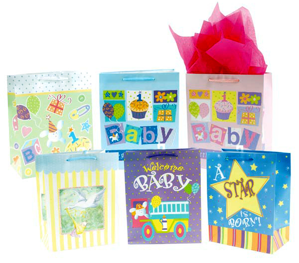 Baby Gift Bags Extra Large 12 Pack