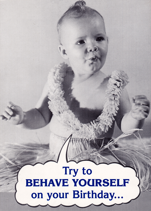 Retro Humorous Birthday Cards