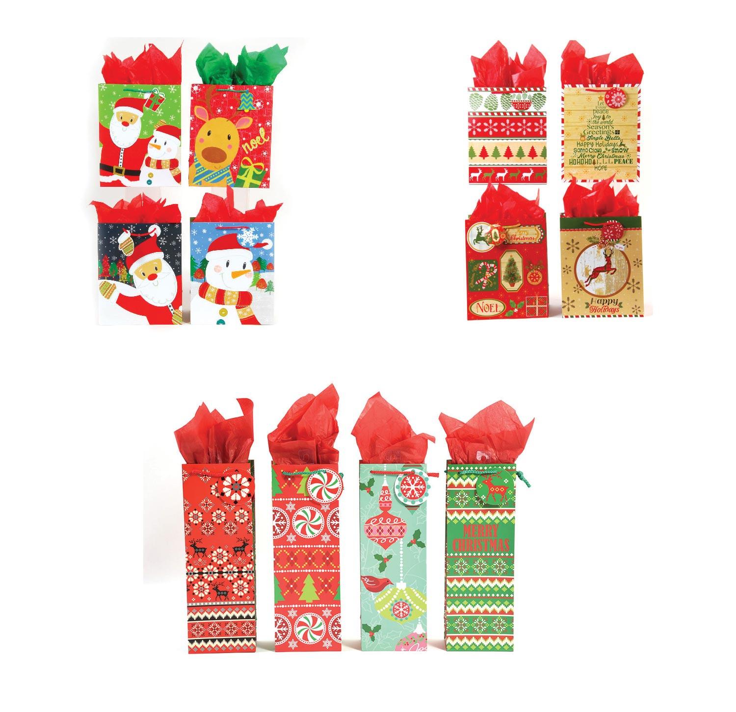 Assorted Christmas gift bag special with free Christmas cards