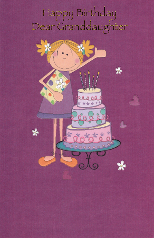 Birthday Granddaughter Teen Greeting Cards
