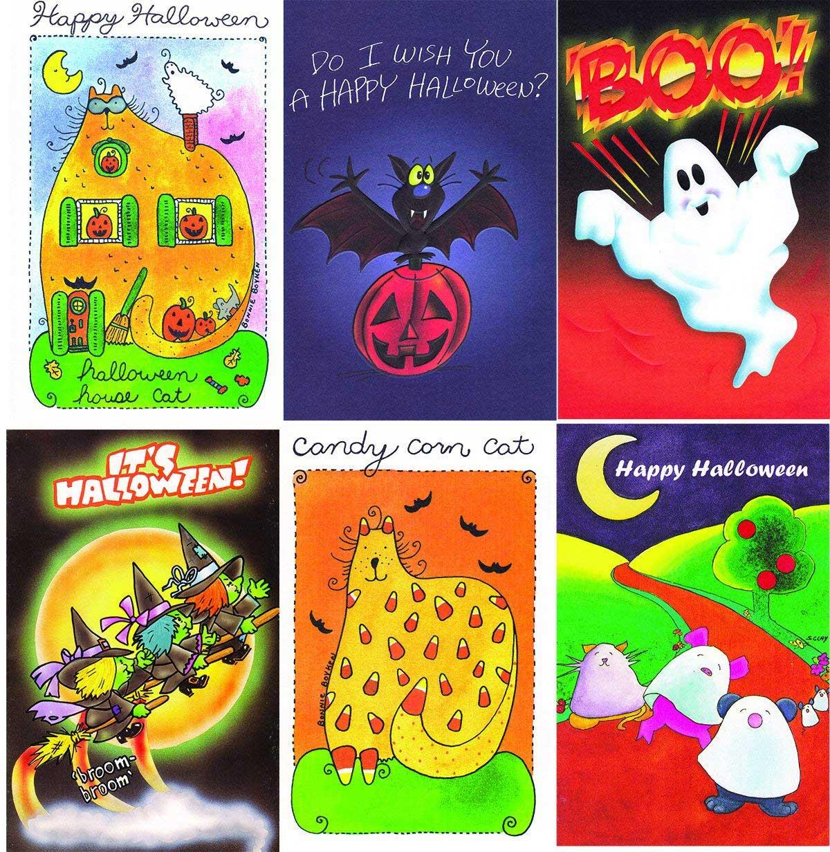 60 Assorted General Halloween Cards