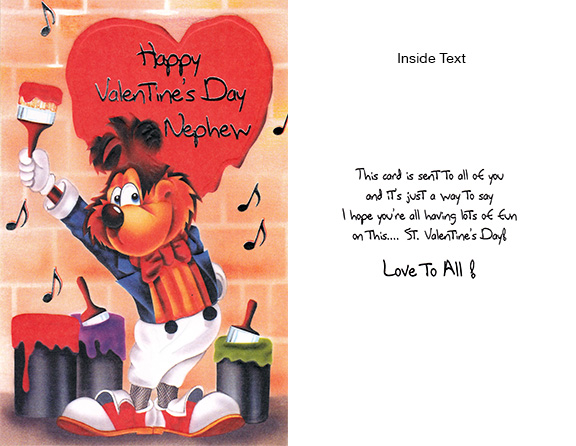 Nephew Valentines Day cards – Nephew Valentine Cards