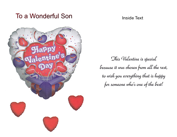 Valentine Card with Envelope for Son