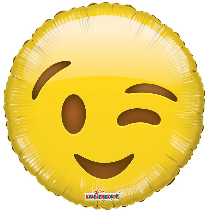 emoji wink balloons