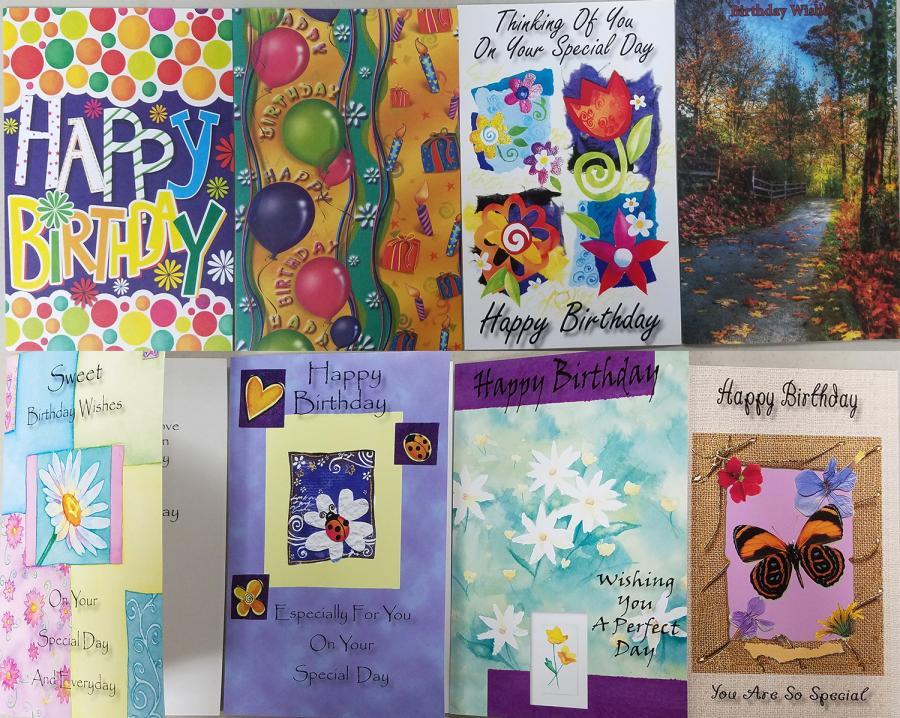 Birthday cards asst 60 assorted general birthday cards m4hsunfo