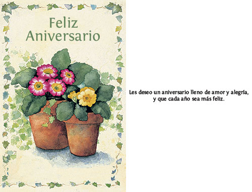 Spanish anniversary card