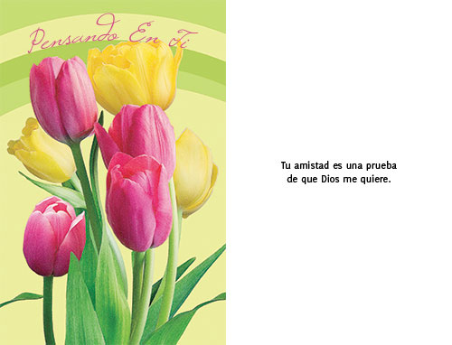 THINKING OF YOU Spanish Greeting Card