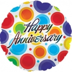 Individually Packaged Anniversary Mylar Balloon (5 count)