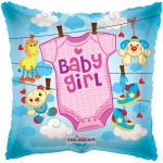 Individually Packaged Baby Girl Mylar Balloon (5 count)