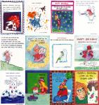 *144 Assorted Humorous Birthday Cards