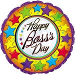 "Boss' Day Mylar Balloon 18"" (1/2 dz)"