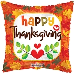 Thanksgiving Mylar Balloons (6 pack)