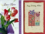Wrapped female relative birthday card assortment