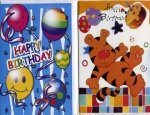 Wrapped Children's birthday card assortment