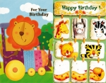 Wrapped Juvenile Birthday Card 60 Pack