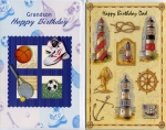 Wrapped male relative birthday assortment