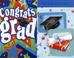 Wrapped Graduation cards