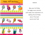 Wrapped 40th Birthday Cards (12 pack)
