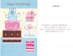 Wrapped 50th Birthday Cards (12 pack)
