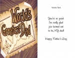 Wrapped Father's Day cards