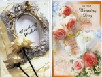 Wrapped wedding card assortment