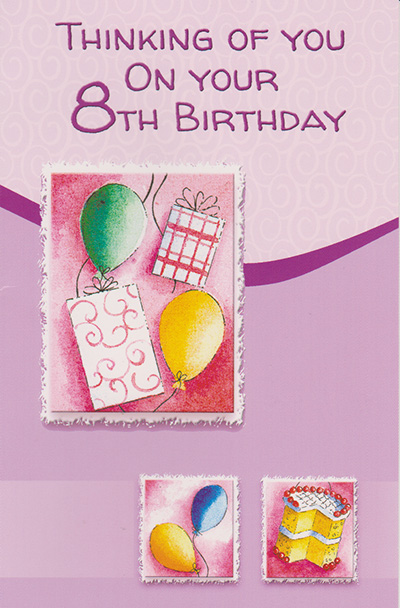 Wrapped 8th Birthday Cards