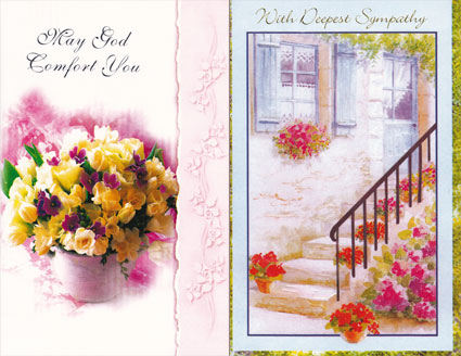 Wrapped religious sympathy greeting card assortment m4hsunfo