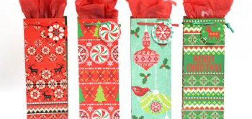 Christmas bottle bags