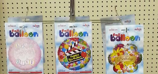 mylar balloon rack deal