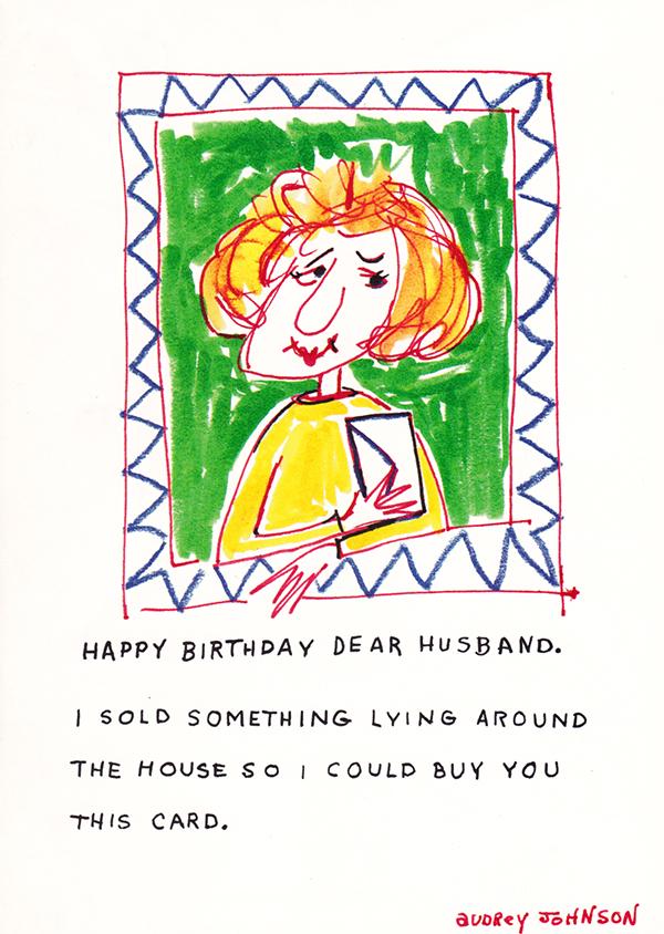 birthday husband cards  humorous