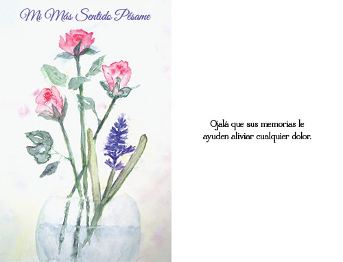 spanish sympathy card