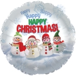 "9"" Christmas  Mylar (6 pack)"