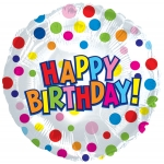 "9"" Birthday mylar balloon (1/2 dozen)"