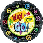 "9"" Way to Go Mylar Balloons (6 pack)"