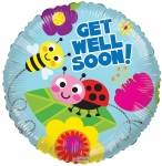 Individually Packaged Get Well Mylar Balloon (5 count)