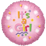 Individually Packaged Baby Girl Mylar Balloon
