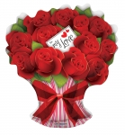"28"" Rose Bouquet Mylar Balloons (5 pack)"