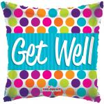 Individually Packaged Get Well Mylar Balloon