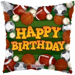 "9"" Happy Birthday Sports Ballons (6 pack)"