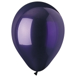 Crystal Purple Latex Balloons - 100 ct.