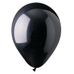 "Black 12"" Latex Balloons - 100 ct."