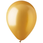 "Gold Metallic 12"" Latex Balloons - 100 ct."
