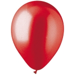 "Red Metallic 12"" Latex Balloons - 100 ct."
