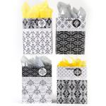 Black and White Large Gift Bags (12 pack)