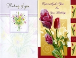 Individually wrapped all occasion greeting cards