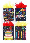 Birthday Denim Large Gift Bags (12 pack)