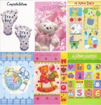 Baby congratulations and baby shower card assortment
